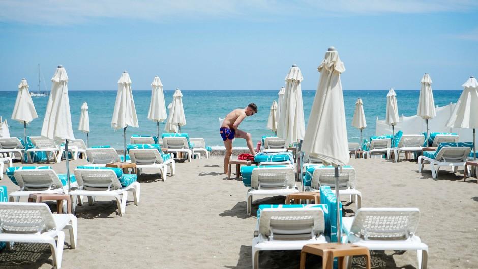 Strand in Torremolinos, Spanien