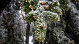 Ungewöhnlicher Eisregen über russischer Großstadt