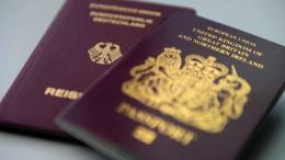 Zahl der Anträge auf deutsche Pässe in Großbritannien steigt