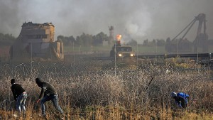 Rakete aus dem Gazastreifen schlägt in Sderot ein