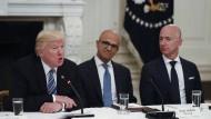Donald Trump hatte wichtige Tech-Manager im Juni 2017 ins Weiße Haus eingeladen.