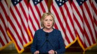 Hillary Clinton bei einem Wahlkampfauftritt Anfang September in New York