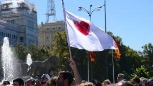 Patrioten auf Madrids Straßen