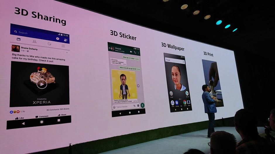 Das neue Sony Xperia XZ1: Die Augmented-Reality-Funktion soll in verschiedenen Apps nutzbar sein.