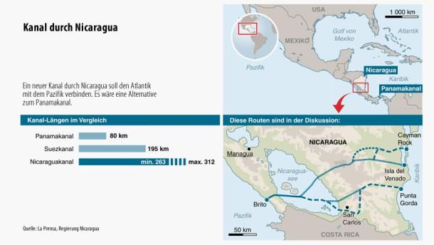 Nicaragua plant Konkurrenz für den Panama-Kanal