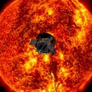 Pionier auf dem Weg zur Sonne: künstlerische Darstellung der Parker Solar Probe