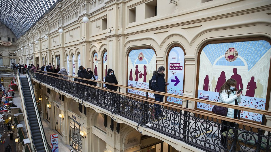 Anstehen für Impfen: Die Impfraten in Moskau haben sich laut dem Bürgermeister deutlich erhöht.