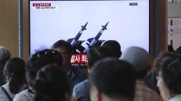 Nordkorea setzt seine Waffentests fort