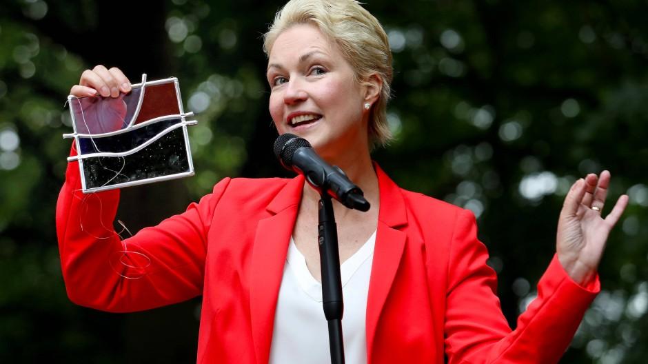 Manuela Schwesig beim Wahlkampf am 18. August in Brüel