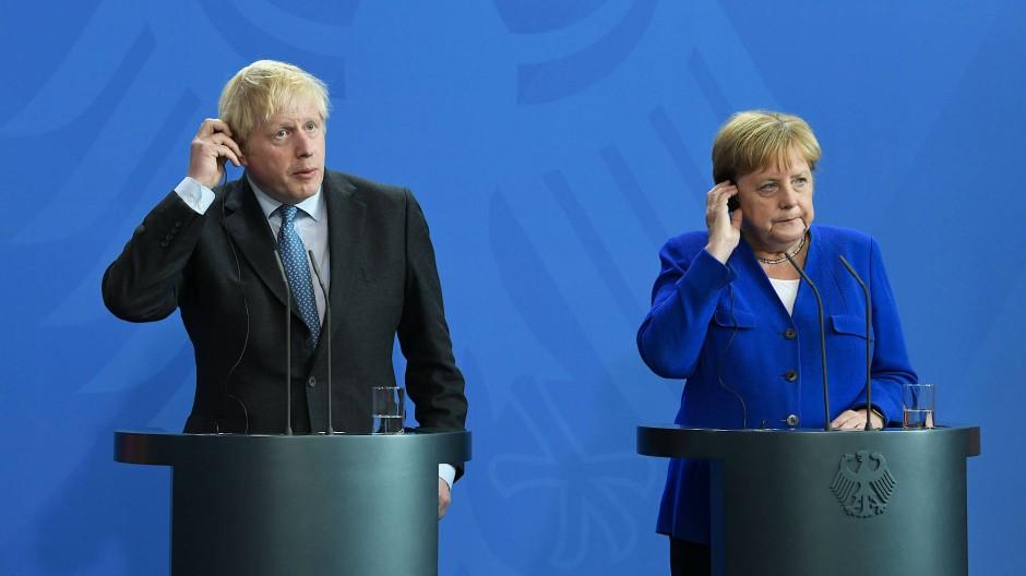 Boris Johnson und Angela Merkel am Mittwoch im Bundeskanzleramt