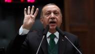 """Er ist der Herrscher der """"neuen"""" Türkei: Staatspräsident Recep Tayyip Erdogan."""