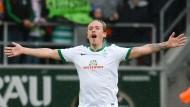 Mann des Tages: Max Kruse schießt vier Tore für Werder.