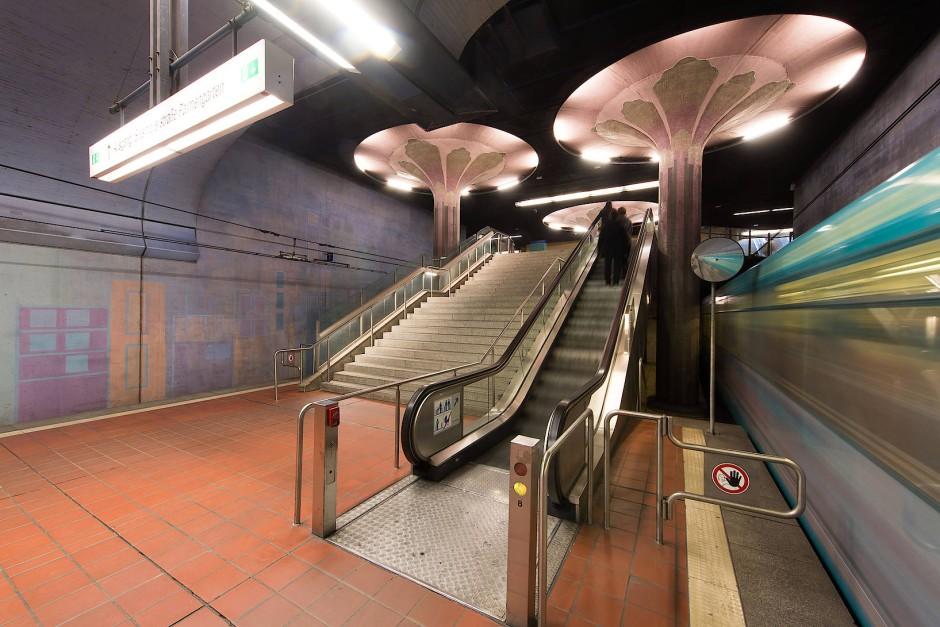 bildergalerie u bahn stationen in frankfurt frische farbe unter tage bild 9 von 10 faz. Black Bedroom Furniture Sets. Home Design Ideas