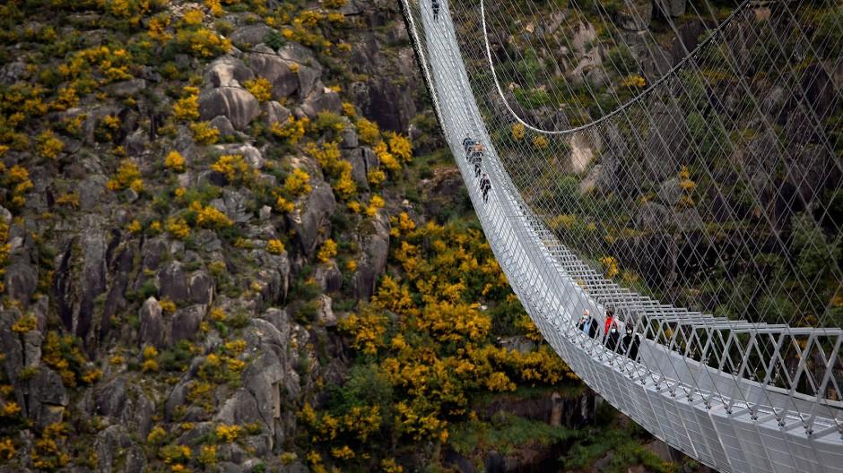 516 Meter ist die längste Fußgängerbrücke lang.