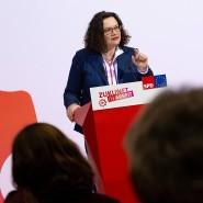 Eingängig, aber umstritten: SPD-Chefin Andrea Nahles plädiert für Sozialstaatsreformen.