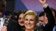 Kitarovic wird neue Präsidentin