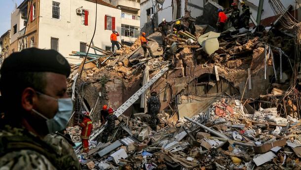Helfer in Beirut findet Lebenszeichen unter den Trümmern
