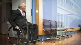Was treibt Wolfgang Schäuble?
