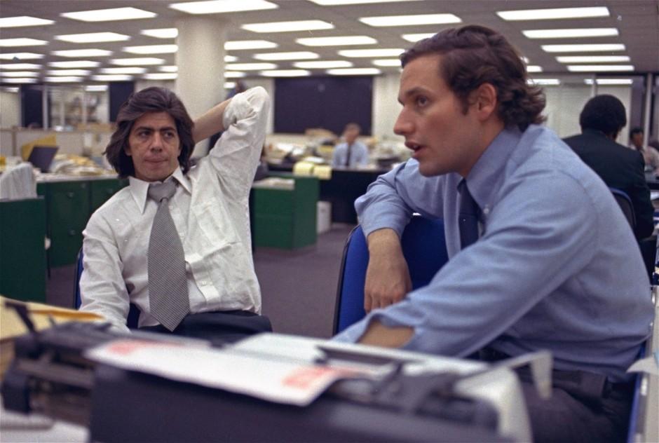 Bob Woodward (r.) und Carl Bernstein, 1973