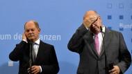 Bundesfinanzminister Olaf Scholz und Wirtschaftsminister Peter Altmaier (rechts)