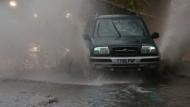 Unwetter führt zu Überschwemmungen