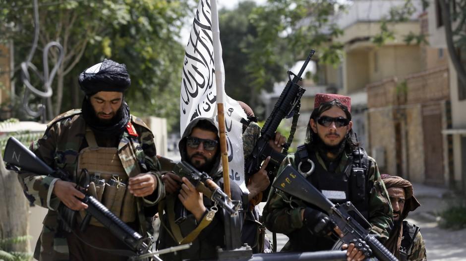 Taliban-Kämpfer am 19. August 2021 in Kabul.