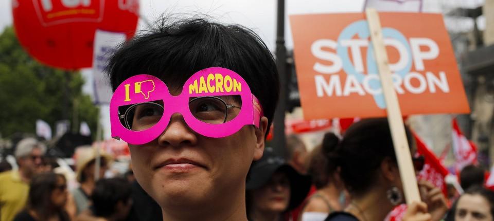 Frankreich: Landesweite Demonstrationen gegen die Politik von Präsident Macron