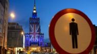 Alles Bitten vergebens: Am Vorabend des Referendums wurde die britische Flagge auf den Palast der Kulturen in Warschau projiziert – als Signal an die Briten, in der EU zu bleiben. Die Hoffnung erfüllte sich nicht.