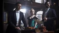 Sie spielen die Gangsterjäger: Luke Evans (links), Dakota Fanning und Daniel Brühl