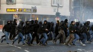 Erster Prozess gegen Blockupy-Aktivisten