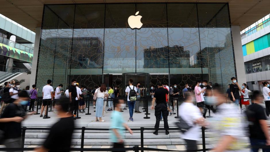Ein Apple-Geschäft in Peking