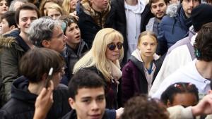 Greta Thunberg bei Demonstration in Lausanne