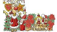 Ohne Weihnachtsstern ist das Fest nicht kitschig genug