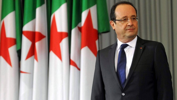 French President Francois Hollande visit in Algiers