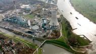 Das Kohlekraftwerk in Duisburg-Walsum