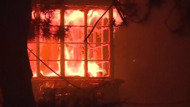 Brände in Südkalifornien und in Weinregion