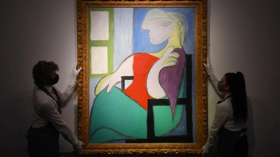 """Für das Picasso-Bild """"Sitzende Frau am Fenster"""" wurden 103,4 Millionen Dollar gezahlt."""