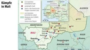 Karte / Truppen / Kämpfe in Mali