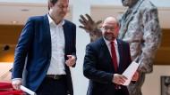 Martin Schulz (rechts) mit dem designierten SPD-Generalsekretär Lars Klingbeil