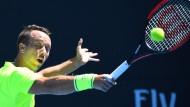 Souverän: Philipp Kohlschreiber zieht glatt in drei Sätzen in die nächste Runde.