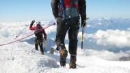 Deutscher Wanderer überlebt Gletscher-Sturz