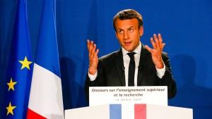 Macron: Deutschlands wirtschaftliche Stärke nicht mehr tragbar