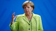 Merkel gegen militärische Lösung