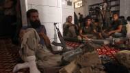 Rebellenkämpfer in Aleppo, der zweitgrößten Stadt in Syrien