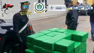 Rekord-Kokain-Fund in Bananenkisten in Italien