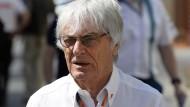 Weiterhin am Steuer? Bernie Ecclestone will in der Formel 1 auch zukünftig schalten und walten.