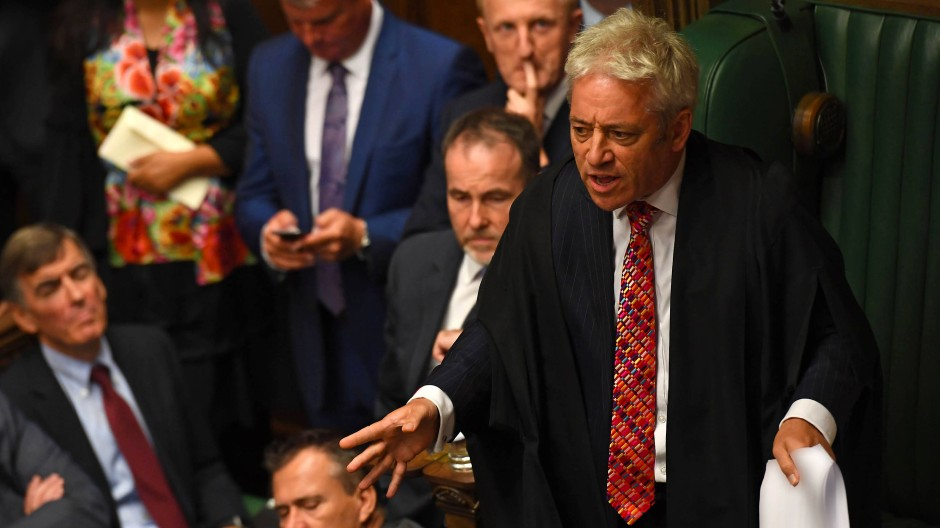 "John Bercow, ""Speaker of the House"", Ende September im Unterhaus"