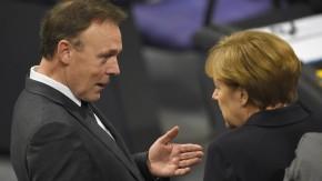 """SPD-Fraktionschef Oppermann im Gespräch mit Bundeskanzlerin Merkel: """"Zweckbündnis auf Zeit"""""""