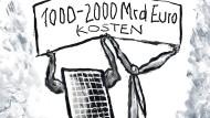 Wer soll das bezahlen? Deutschlands Energiewende ist teuer.