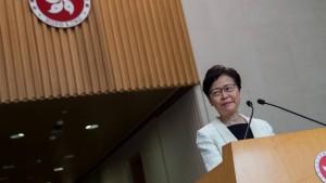 Regierungschefin Lam zieht Auslieferungsgesetz zurück